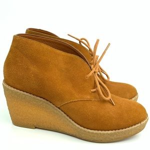 Cole Haan boots size 5 suede wedge ankle booties